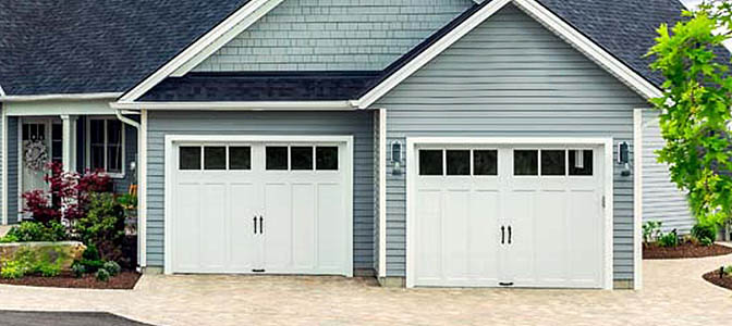 Wood Carriage House Garage Door